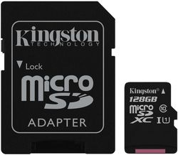 купить Флэш карта памяти Kingston SDCS/128GB, microSD Class10 UHS-I + SD adapter в Кишинёве