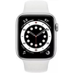 купить Смарт часы Apple Watch Series 6 40mm Silver/White Sport Band (MG283) в Кишинёве