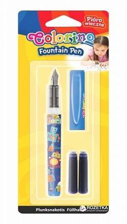 Перьевая ручка Colorino + 2 картриджа (для мальчика)
