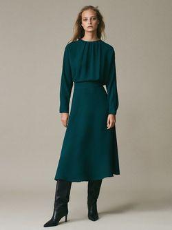 Платье Massimo Dutti Зеленый 6693/844/527