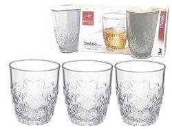 Набор стаканов для виски Dedalo 3шт, 260ml