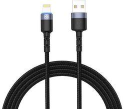 купить Кабель для моб. устройства Tellur TLL155373 Cable USB - Lightning, cu LED, Nylon, 1.2m, Black в Кишинёве
