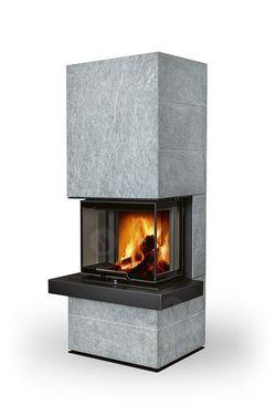 Дизайнерская аккумуляционная каминная печь ROMOTOP CARA CS 02 - с выдвижной подъемной дверцей
