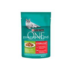 Purina ONE Steril Cat с индейкой и зеленой фасолью 85 gr