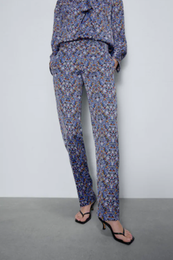 Pantaloni ZARA Imprimeu floral 2487/153/400 zara.