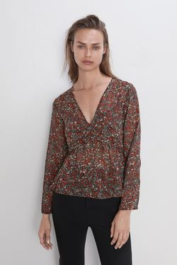 Блуза ZARA Принт цветочек zara 8514/155/800