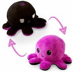 Octopus Plush Reversible, Dark Purple & Black