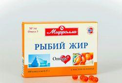 Рыбий жир с маслом облепихи капсулы 0,37г №100