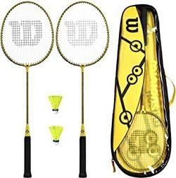Набор для бадминтона (2 ракетки + 2 воланчика + чехол) Wilson Minions WR065310F2 (5254)