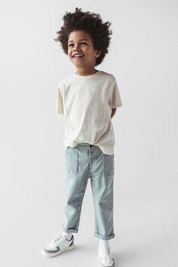 Pantaloni ZARA Gri/Albastru desсhis 6917/503/485