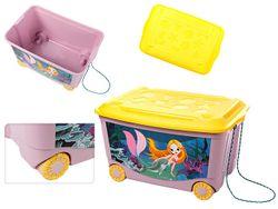 Контейнер для игрушек Пластишка 45l, 58X39X33cm, розовый
