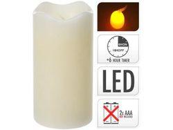 Свеча LED 13X7cm, таймер, слоновая кость