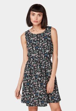 Платье TOM TAILOR Черный в цветочек 1012610 tom tailor