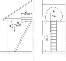 Лестница Standard Thermo 13090004 (70x110)