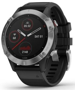 купить Смарт часы Garmin Fenix 6 Silver w/Black Band в Кишинёве