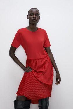 Платье ZARA Красный 5039/459/600