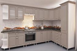 Bucătărie Bafimob Corner MDF 3.4x1.7m Cappuccino