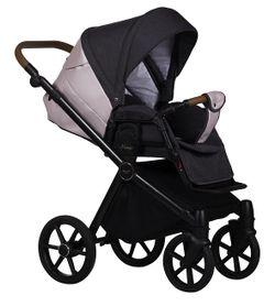 Коляска Baby Merc Mango 2in1 M/201Black\Pink