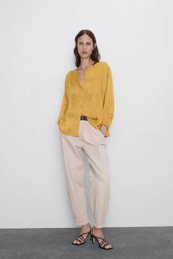 Блуза ZARA Желтый 7960/598/305