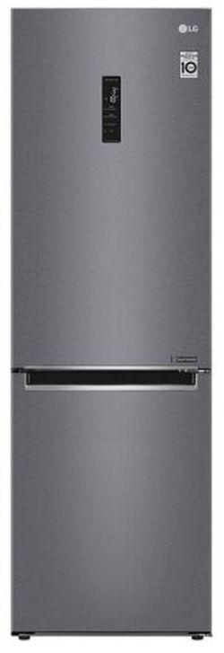 Холодильник с нижней морозильной камерой LG GA-B459MLSL, 341л, 1.860см, A+
