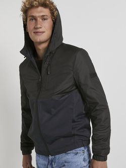 Куртка TOM TAILOR Черный/синий