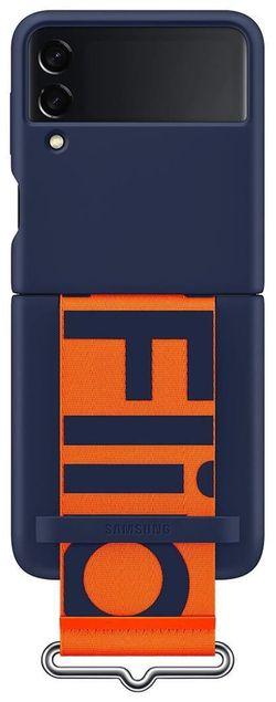 cumpără Husă pentru smartphone Samsung EF-GF711 Silicone Cover with Strap B2 Navy în Chișinău