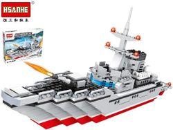 Конструктор HSANHE Эсминец 42.5X31X6.5cm, 468дет.