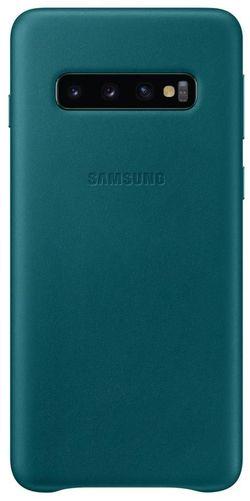 купить Чехол для моб.устройства Samsung EF-VG973 Leather Cover S10 Green в Кишинёве