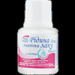Soluție pentru îndepărtarea ojei, SOLVEX Miss Magic, 50 ml., roz