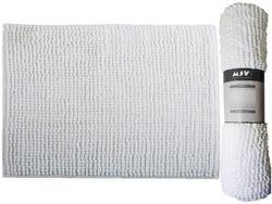 Коврик для ванной комнаты 60X90cm Chenille белый, микрофибр