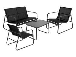 Комплект мебели: стол, 2стула, скамья, металл