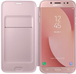 купить Чехол для моб.устройства Samsung EF-WJ730, Galaxy J7 2017, Flip Cover, Pink в Кишинёве