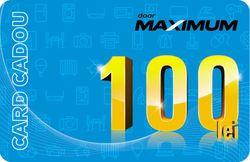купить Сертификат подарочный Maximum 100 MDL в Кишинёве