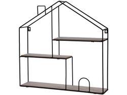 Полка подвесная Дом 3 уровня 50X50X11cm, металл, дерево
