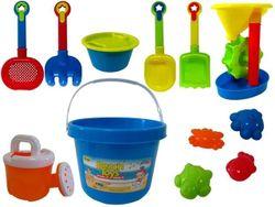 Набор игрушек для песка с мельницей в ведерке 13ед