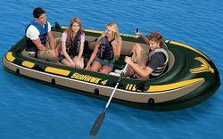 Надувная лодка Intex 68351 Seahawk 4 Set