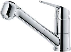 купить Смеситель кухонный Franke 115.0380.642 Tap Novara Eco spray top HP chrome в Кишинёве
