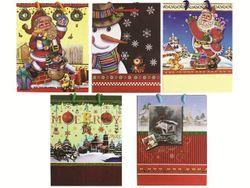 Пакет подарочный 21.5X18cm рождественский рисунок