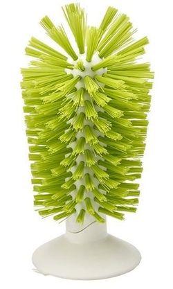 купить Аксессуар для кухни Joseph Joseph 85103 Щетка для стаканов с присоской к раковине (Зелёная ) в Кишинёве