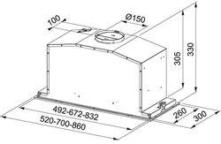 Hota Franke Box Plus Glass FBI 537 XS/BK