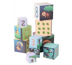 Деревянные кубики-пирамидка