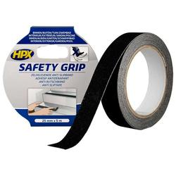 HPX SAFETY GRIP - Banda antiderapant negru 25mm*5m