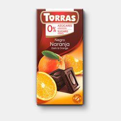 Шоколад темный с апельсином без сахара без глютена Torras 75г
