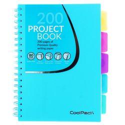 Блокнот A5 Coolpack Pastel, 200 страниц, синяя спираль математика