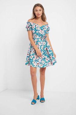 Платье ORSAY Белый с цветами 470213