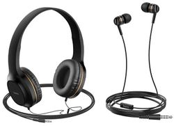 купить Наушники с микрофоном Hoco W24ENHWMGD / W24 Gold в Кишинёве