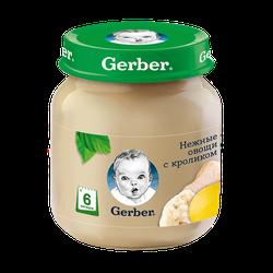 Pireu Gerber de legume cu carne de iepure (6+ luni), 130g