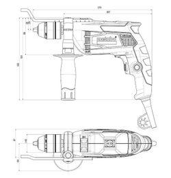 Дрель Metabo SBE 650 Case 600671500)
