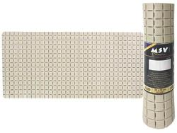 Коврик для ванны 36X76cm Quadro Premium беж, резиновый