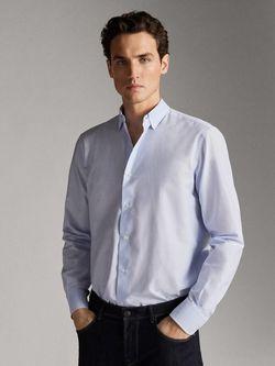 Рубашка Massimo Dutti Голубой 0108/125/403
